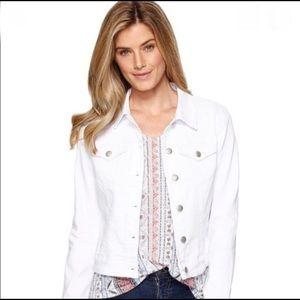 Lucky Brand White Trucker Jacket